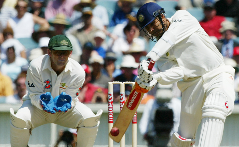 Virender Sehwag on his way to 195 against Australia at the MCG. Picture courtesy Reuters